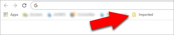 Imported Chrome Bookmarks folder