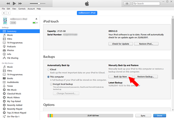 tutorial how to backup your iphone before updating ios rh wideanglesoftware com iTunes Backup MacBooks iTunes Backup Extractor