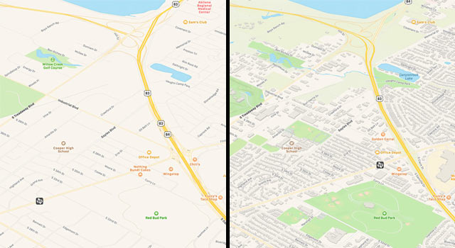 iOS 13 Maps app - Apple is rolling out a new map with richer details and better road coverage.