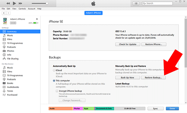 Where are iPhone backups stored? iTunes Backup Location PC/Mac