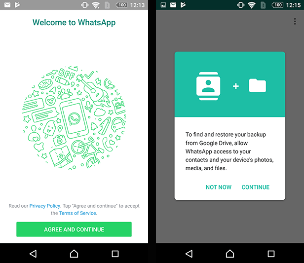 How to restore whatsapp backup on new phone