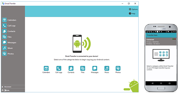 Droid Transfer | Android Transfer Software for PC