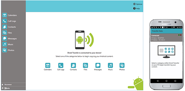 Conecta Android con Droid Transfer