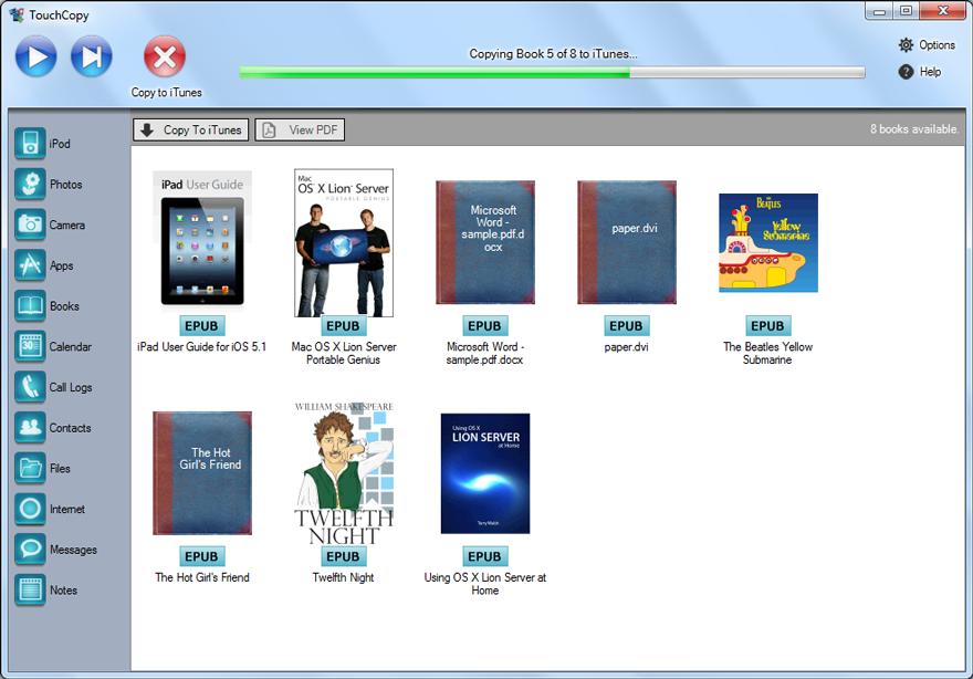 how to  pdf into ibooks