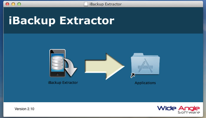 Drag iBackup Extractor to your applications.