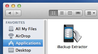 iBackup Extractor Application