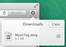 Launch the Music Tag installer from your browser