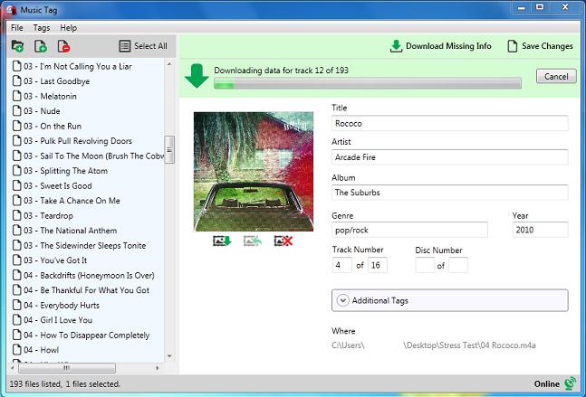 Windows 7 Music Tag 2.08 full