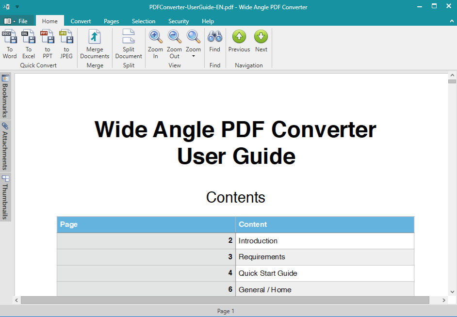 Click to view Wide Angle PDF Converter 1.03 screenshot