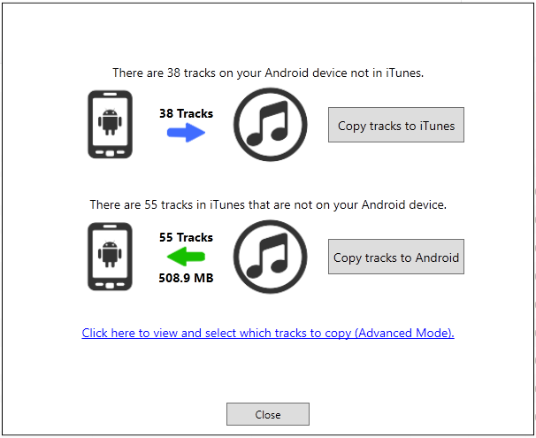 Sync iTunes to Android phone