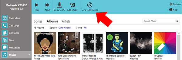 Sync iTunes with Android