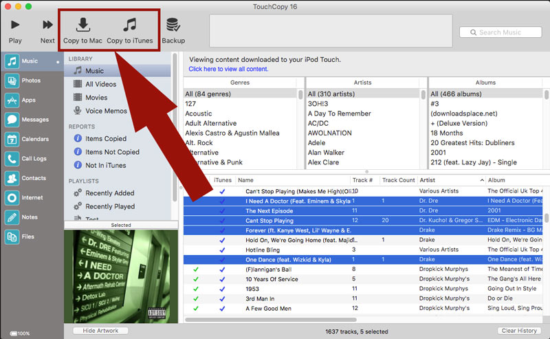 transfer music from pc to mac using ipod