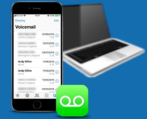 how to save voicemails from iphone to pc